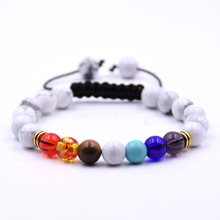 KANGKANG classic 10 color Natural stone bracelet 7 Dazzling Woven  bracelets For Women Men Cool hot Selling