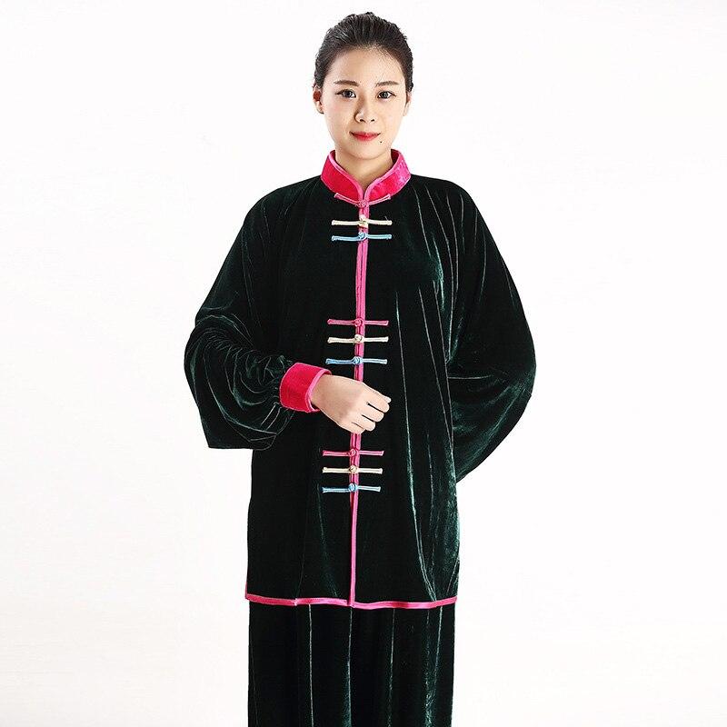 Ejqyhqr Nieuwe Tai Chi Uniform Wushu Kung Fu Kleding Niet-omgekeerde Fluwelen Praktijk Verdikking De En Najaar Chinese Suits