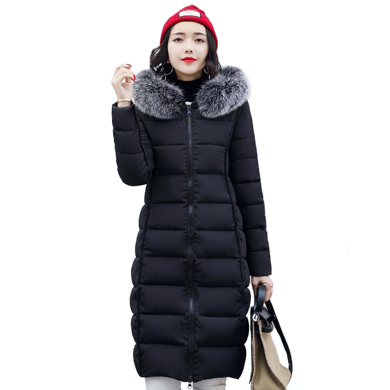2019 New Arrival Winter Jacket Women Both Two Sides Can Wear Womens Coat Coats Long Parka Hooded With Fur Collar Warm Female