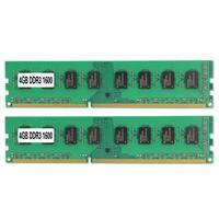 2Pcs 4GB DDR3 1600Mnz 240Pin High Speed Read Write Desktop Memory Module Chip Good quality
