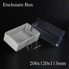 200*120*113 ММ Оптовая пластиковый корпус для электронных DIY пластиковый корпус коробки с прозрачной Прозрачной крышкой 200x120x113 MM