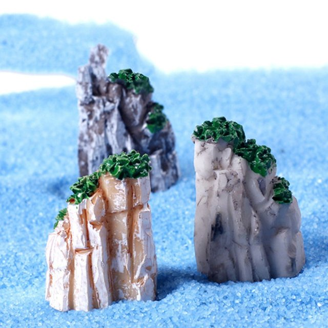 5/10PCS/Set Mini Mountain Miniature Toys Bonsai Ornaments Plant Gardening Garden Accessories Natural Resin Home Decorative 4