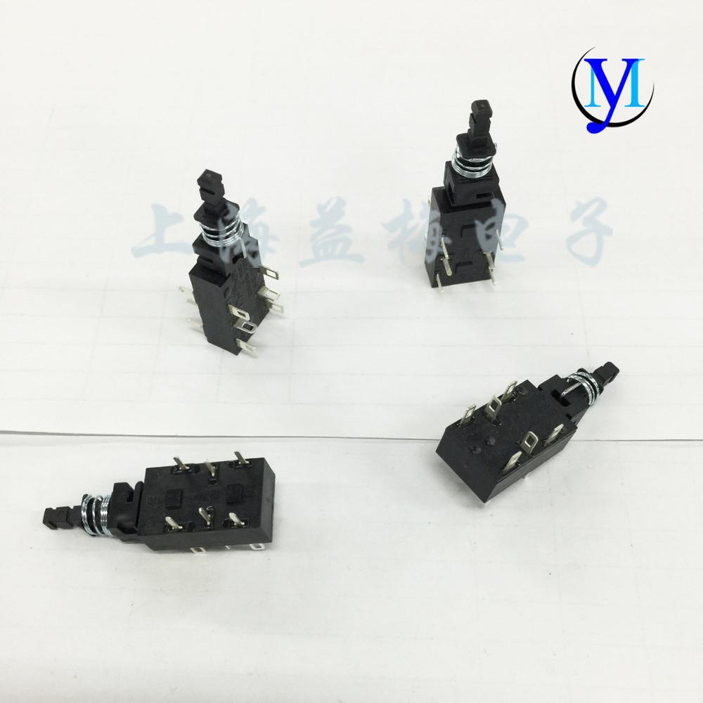 Original New 100% Import Key Switch Self-locking Straight Key Switch PWL-2P2T Unilateral 3 Feet 6 Feet On Both Sides
