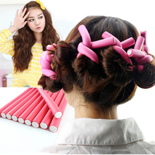 10 Pcs Hair Curlers Roll Stick Soft Sponge Hair Curling Roller Flex Silicone Magic Air Foam Roller Bendy Rod Hair Styling Tools