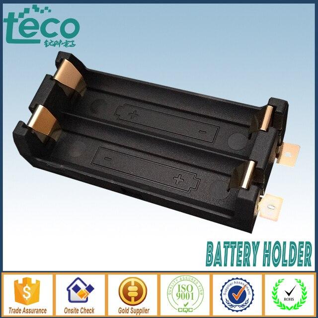 4 stks/partij 2 AA Batterij Houder SMD SMT Hoge Kwaliteit Batterij Doos Met Brons Pins TBH 2A 2A SMT