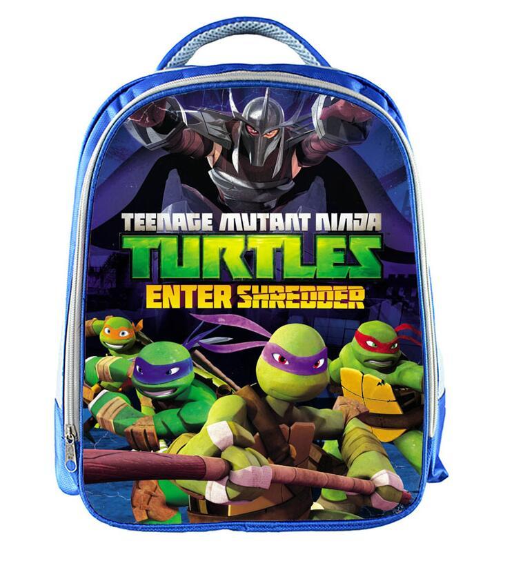 13inch Mutant Ninja Turtles Backpack Boys School Bags School Backpack Bookbag Children Gift Customized