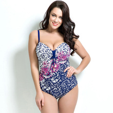 Ladies high quanity one piece swimsuit with plus size, new branded women's flower and leopard print bathing suit, free shipping