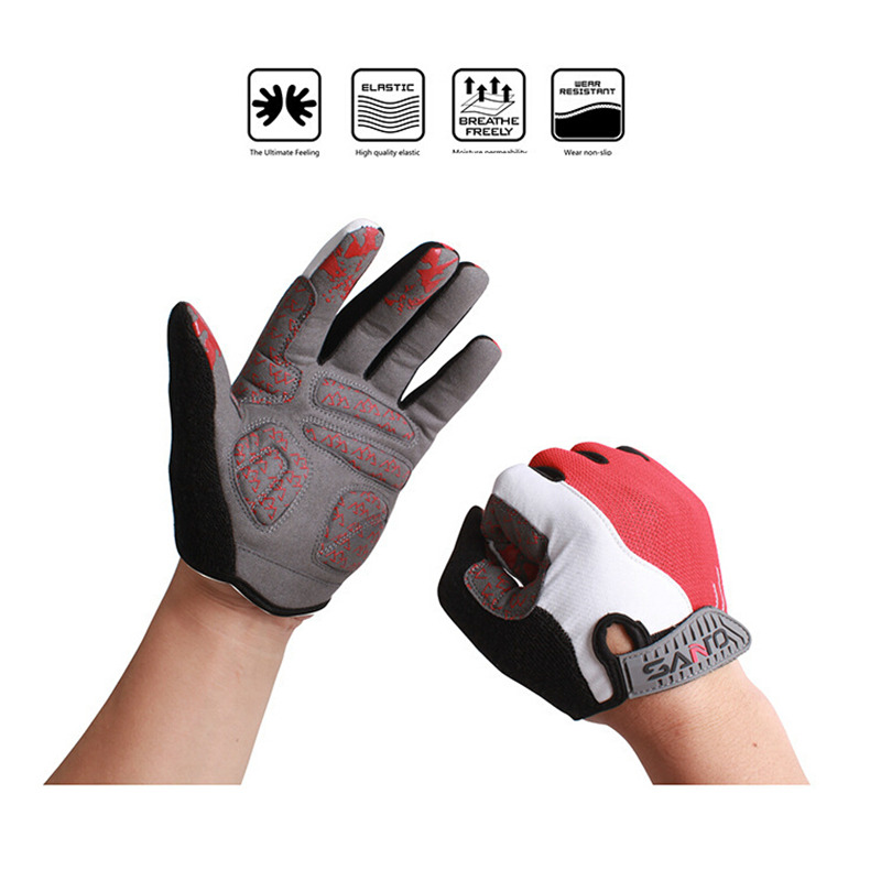 FuLang Cycling font b Gloves b font Fast drying colloidal particles silica gel full Finger anti