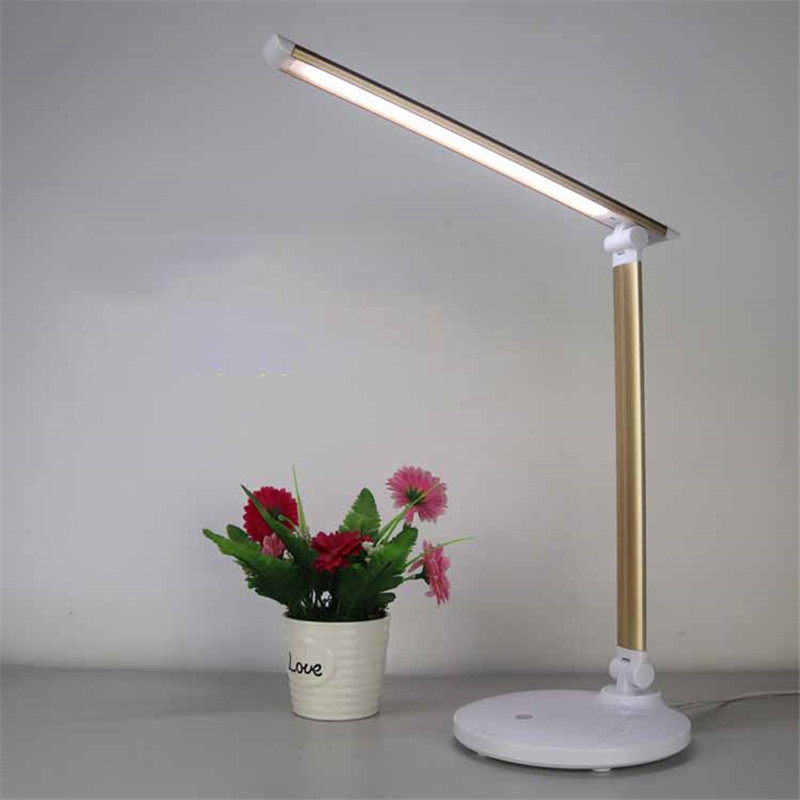 Eye Care Folding LED Table Lamp Flexible Reading Book Light USB 3 Level Dimmable Child Study Bedroom Bedside Lamp Touch Switch led usb desk table lamp bedside reading lamp flexible arm touch switch dimmable light room decor luminaria de mesa