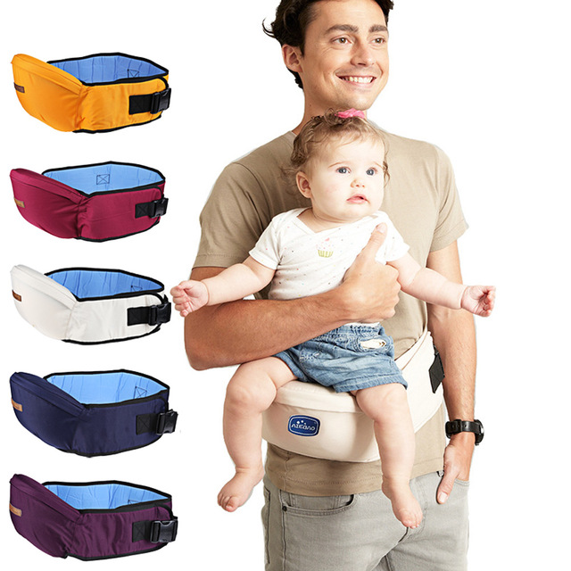 AIEBAO Baby Hipseat Carrier / Baby Waist Seat with Adjustable Strap and Pocket / Baby Carrier Waist Stool – for 0-30 Month Babies