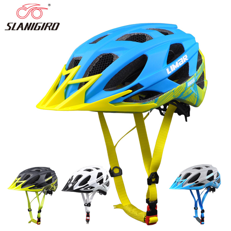 SLANIGIRO Ultralight Cycling Helmet MTB Road Helmet Mountain Bike Helmets Comfortable Riding Bicycle Cycling Cap Size L(56-61)cm цены