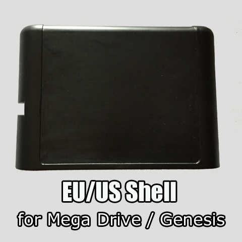 Newest EU/US shell Sega MD case for 16bit Sega Mega Drive Genesis system 2Pcs/Lot!