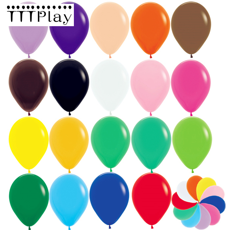 """11/"""" Assorted Color Latex Balloons 144 Gross Lot Package Birthday Party Decor"""