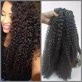 6A mongol Afro crespo cabelo encaracolado 3 Pcs cabelo tece produtos de cabelo extensões de cabelo virgem mongol crespo magos