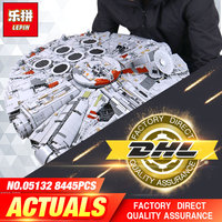 1381pcs Star Wars 05007 Millennium Falcon Figure Toys Building Blocks Marvel Minifigures Kids Toy Compatible With