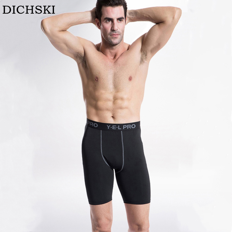 DICHSKI Men Training Fitness Running Shorts Quickly Dry Down Compression Short Breathable Gym Jogger Clothing Tightening Trunks