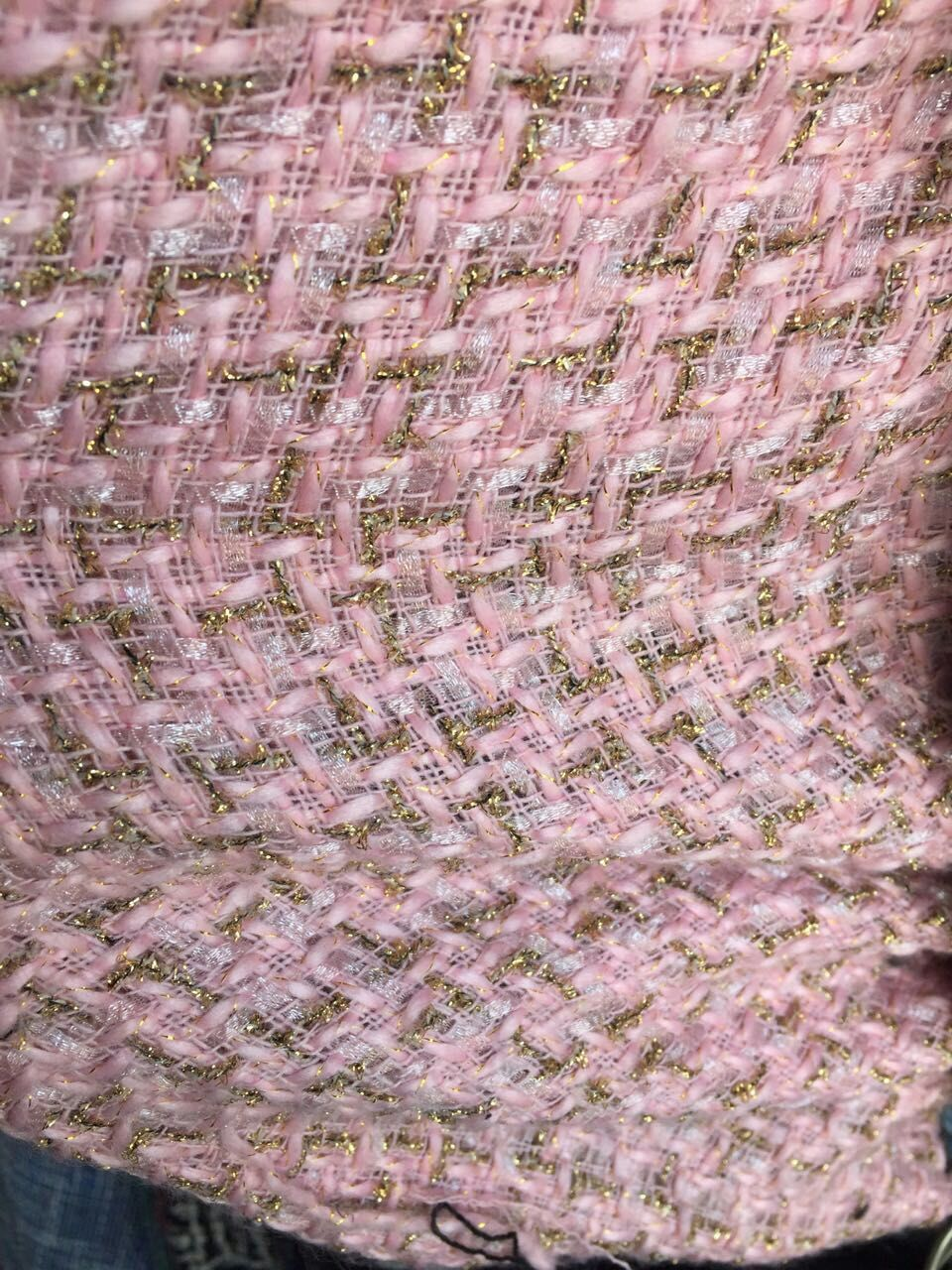 CUTOMIZED LISTING free shipment for soft feel weaved Needled fabrics PINK for 1.5 meters 150cm