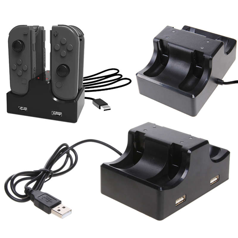 4-Controllers USB Charging Dock Station Charger Stand for Nintend Switch Switch Joy-Con for Sony PS4 Video Game Console