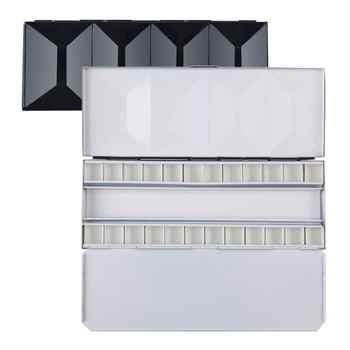 MEEDEN Watercolor Palette, Compact Folding Metal Watercolor Palette Box, Travel Friendly Artist Palette Tin Case with 24 Pans - Category 🛒 Office & School Supplies