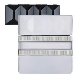 MEEDEN paleta akwareli  kompaktowe składane metalowe paleta akwareli Box  przyjazny dla podróży artysta paleta blaszany futerał z 24 patelniami w Paleta od Artykuły biurowe i szkolne na
