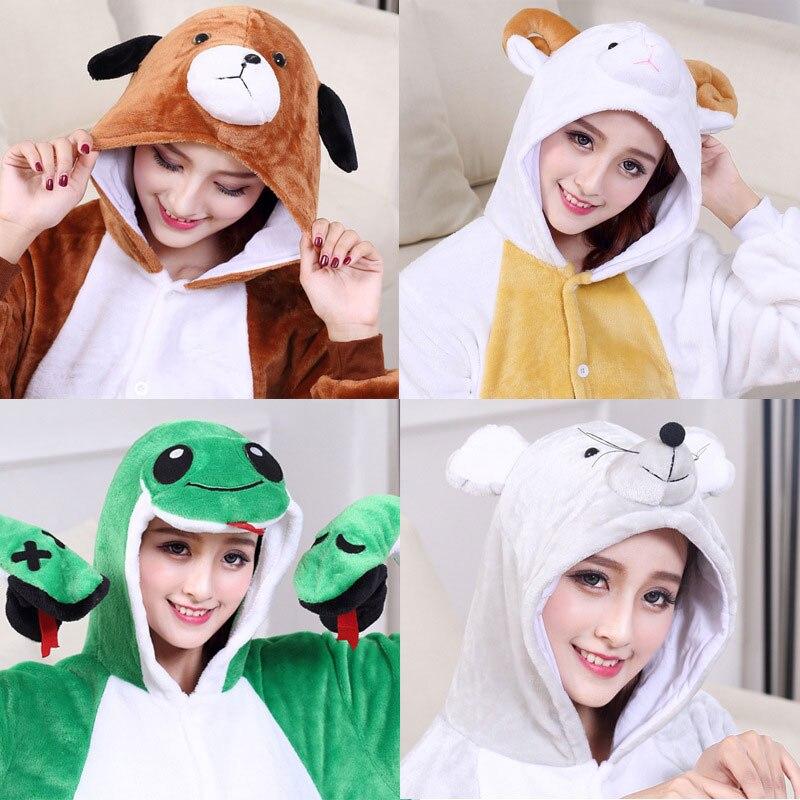 Unisex Animal Kigurumis Onesie High Quality Flannel Thick Pajama Adult Couple Women Men Overalls Cartoon Cute Suit Winter Pajama
