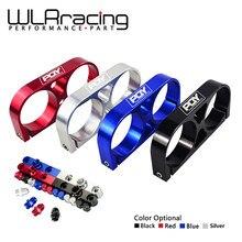 WLR RACING-double pompe à carburant support billette Aluminium assemblage collecteur de sortie en noir pour 044 pompe à carburant avec Logo PQY