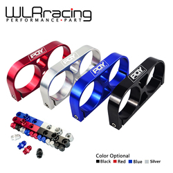 WLR RACING - Twin Fuel Pump Bracket Billet Aluminium Assembly OUTLET Manifold In Black for 044 fuel pump With PQY Logo