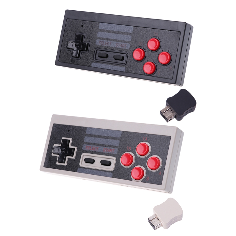Mini 2.4GHz Wireless 5M Receive Game Controller Gamepad For NES Classic Edition