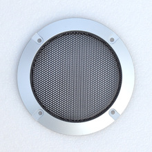 4 inch silver car subwoofer speaker decoration ring audio speakers grille/Free Shipping