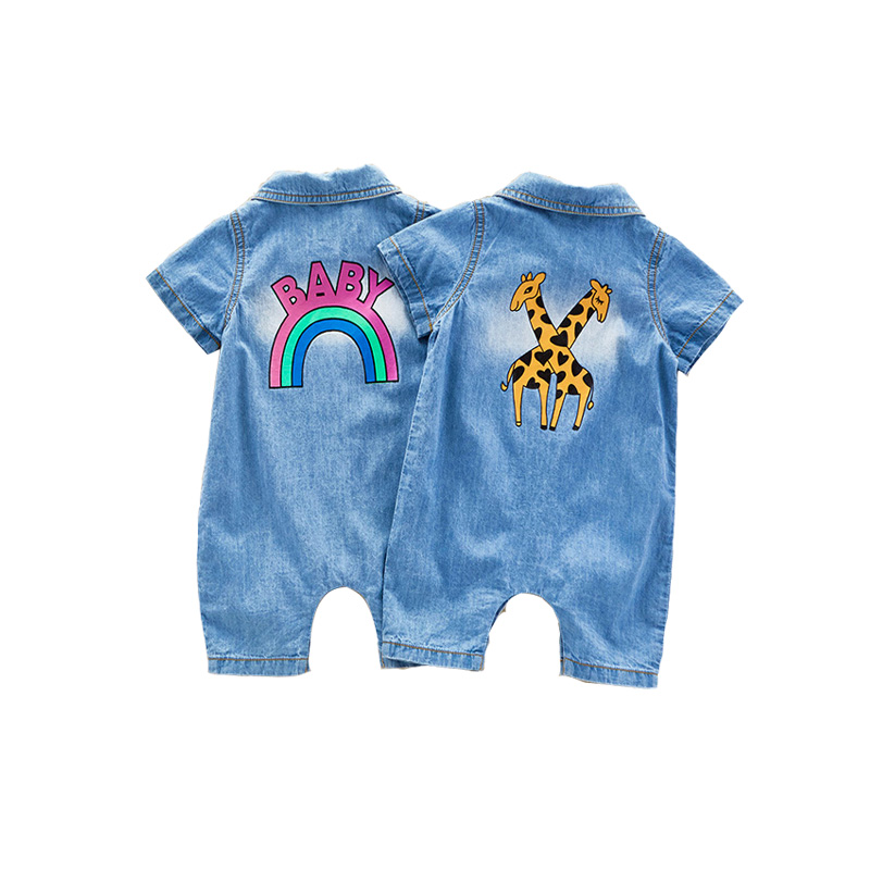 2018 Summer New Arrival cartoon Giraffe Cowboy Baby Boys Clothing Fashion Design Lovely Romper Comfortable  Girls Clothes детские кроватки forest lovely giraffe качалка