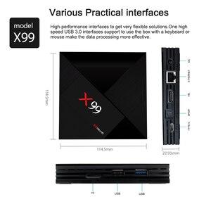 Image 5 - L8STAR X99 Android 7.1 TV BOX RK3399 4GB RAM 64GB ROM With Voice Remote 5G WiFi Super 4K OTT HD2.0 Smart TV BOX Set TOP BOX