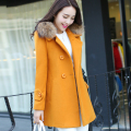 2016 fall and winter clothes new Korean Women woolen coat Girls long paragraph Slim coat autumn and winter coat Nizi
