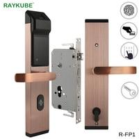 RAYKUBE Biometric Fingerprint Digital Lock Intelligent Electronic Door Lock With Fingerprint Verification & Password&RFID R FP1