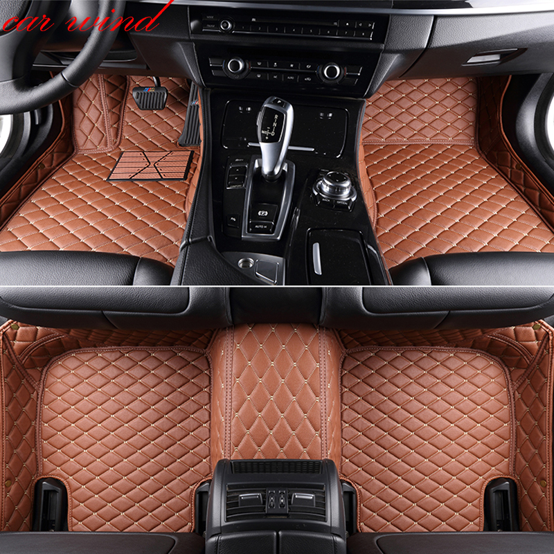 Car wind leather car floor mat for Audi Q5 Q7 toyota land cruiser prado 150 peugeot 308 skoda superb rug Carpets car accessories
