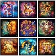 Huacan Diamond Painting Cartoon Crystal Cross Stitch Kits Embroidery Constellation Rhinestones Mosaic