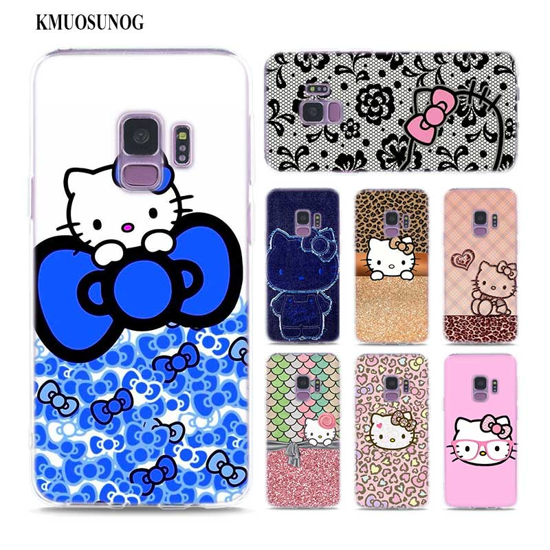 Transparent Soft Silicone Phone Case Pink Hello Kitty Cat
