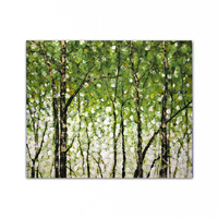 100% hand painted Home decoration famous oil painting high quality Modern artists painting Green forest DM 2014121018