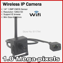 Free shippingHigh Decision 720P Community home up Securiy CCTV Mini WIFI IP digital camera Wi-fi 1.0MP Assist ONVIF 2.zero P2P  H.264