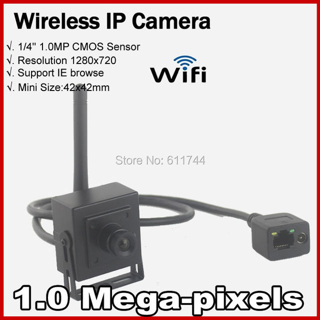 Gratis shippingHigh Resolución 720 P Red house up Securiy CCTV Mini WIFI cámara IP Wireless P2P 1.0MP Onvif 2.0 H.264
