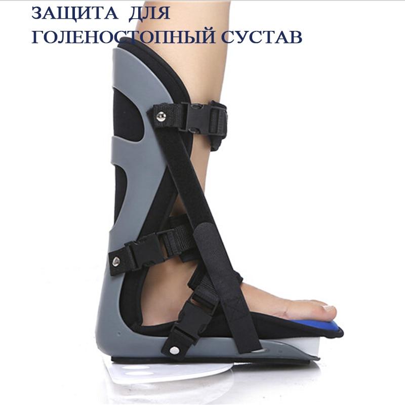 Kostenloser Versand Schwarz Professionelle verdrehsicherung Ankle Schützen Unterstützung Fuß Orthese Fuß Orthesen Schmerzen Bruch Rehabilitation - 5