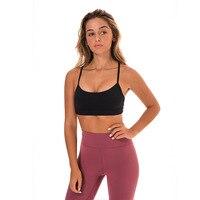 Eshtanga Women Yoga Sports Bra Non see through fabric Exercise sexy bra Comfortable Sleeveless Bras Size XS XL free shipping