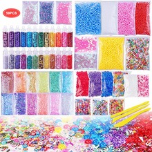 Slime Supplies Kit, 59 Packs Beads Charms Tools For Making DIY Craft Childrens Funny Toy Christmas Gift Slide