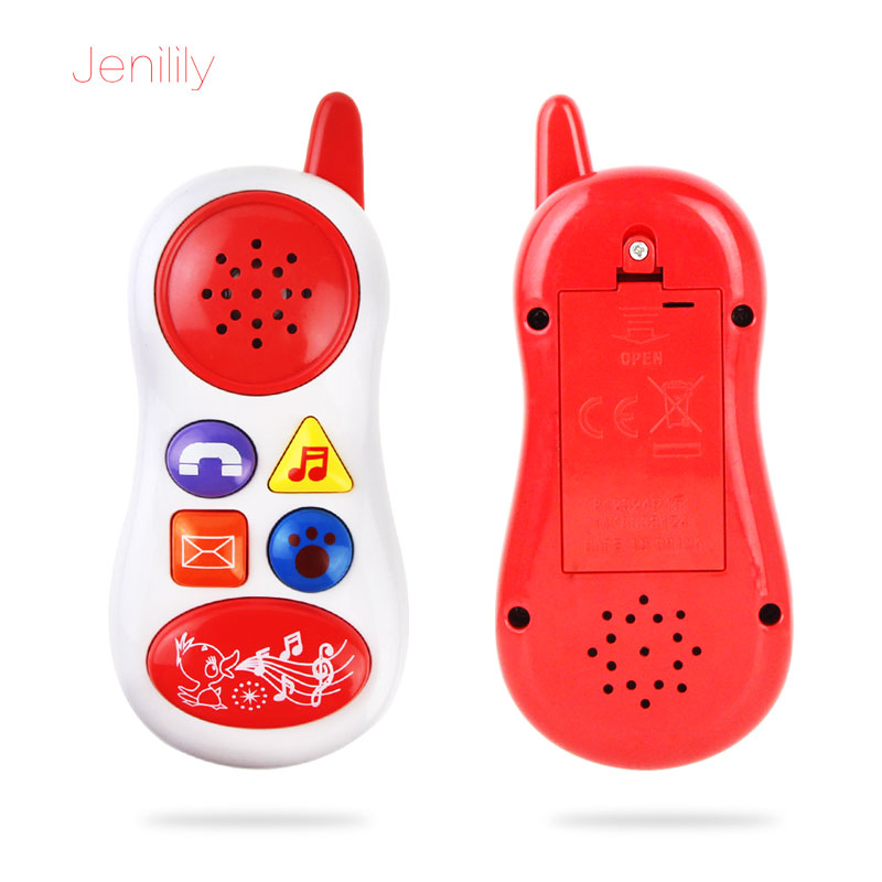 2017 Funny Baby Musical Sound Smart Mobile Phone Toy Electronic Cellphone Early Educational Learning Toys For Infant Kids 5*14cm