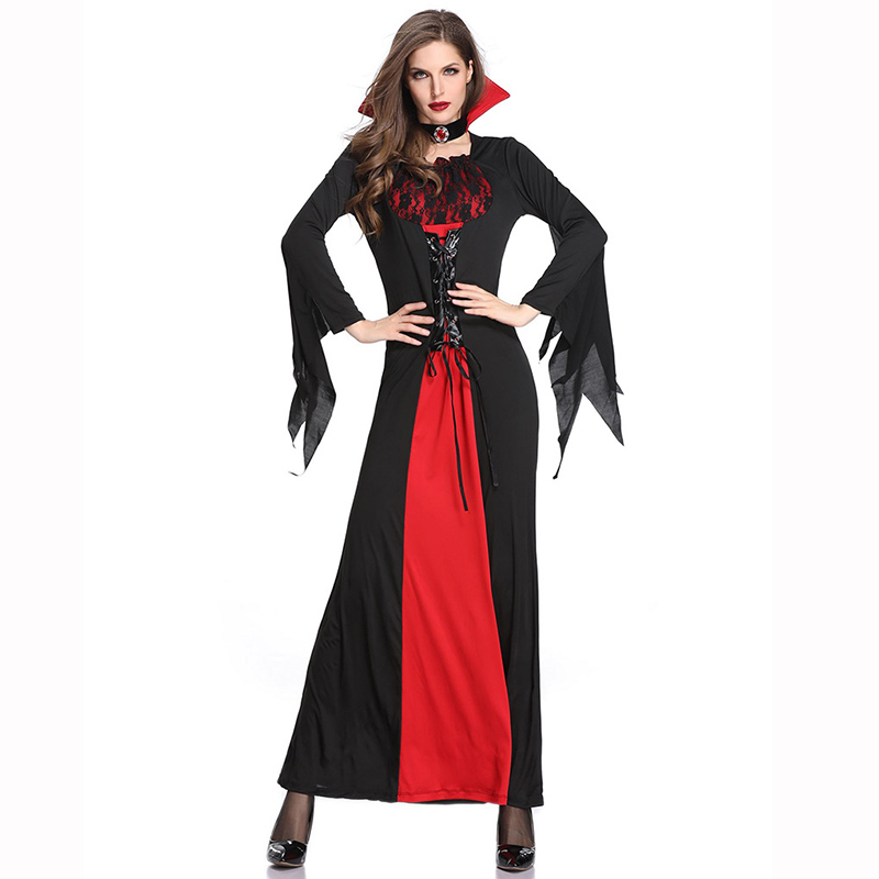 Women Carnival <font><b>Halloween</b></font> Party Hell Devil Fancy Dress <font><b>Sexy</b></font> Demon Costume Horror Vampire <font><b>Queen</b></font> Costumes For Role Playing Game image