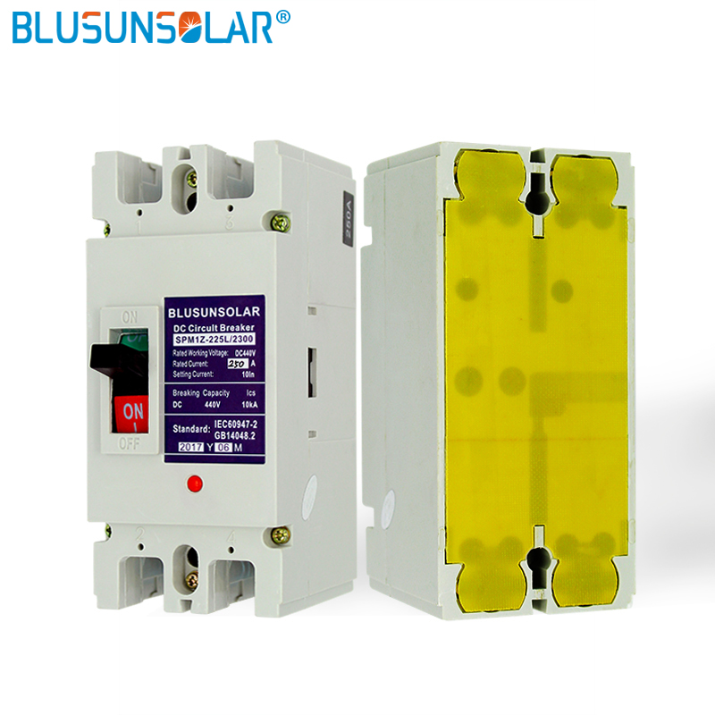 2 pcs/lot 2 P 200A DC440V DC interrupteur d'isolement MCB énergie solaire photovoltaïque PV boîtier moulé disjoncteur TF0182 - 2