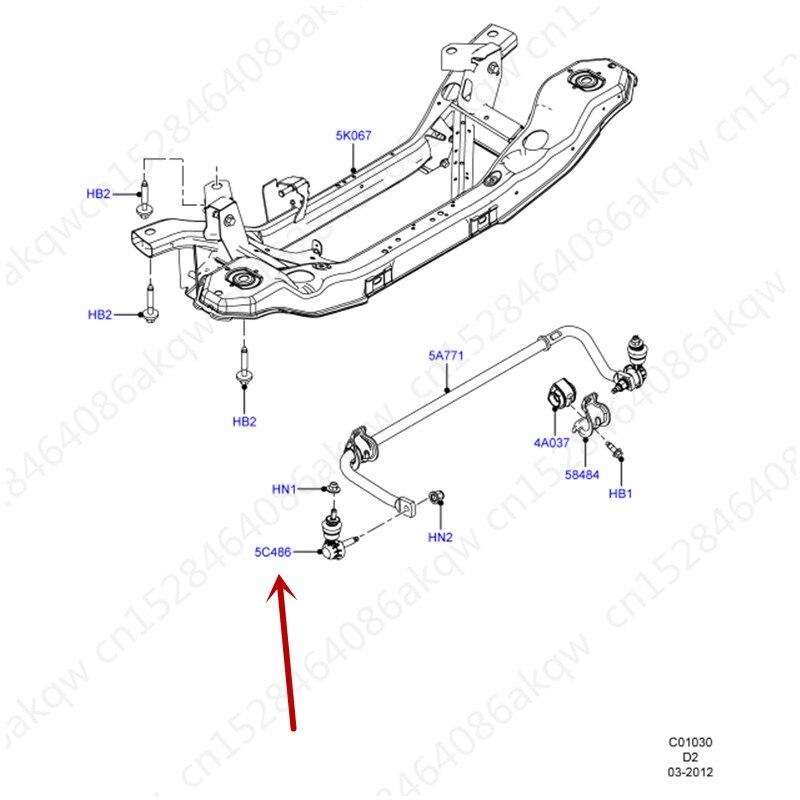 Автомобильная параллельная головка стержня подходит для 2012Fo rdF oc us2012 балансировочный стержень заднего колеса небольшой подвесной шаровой головкой задний Баланс Бар