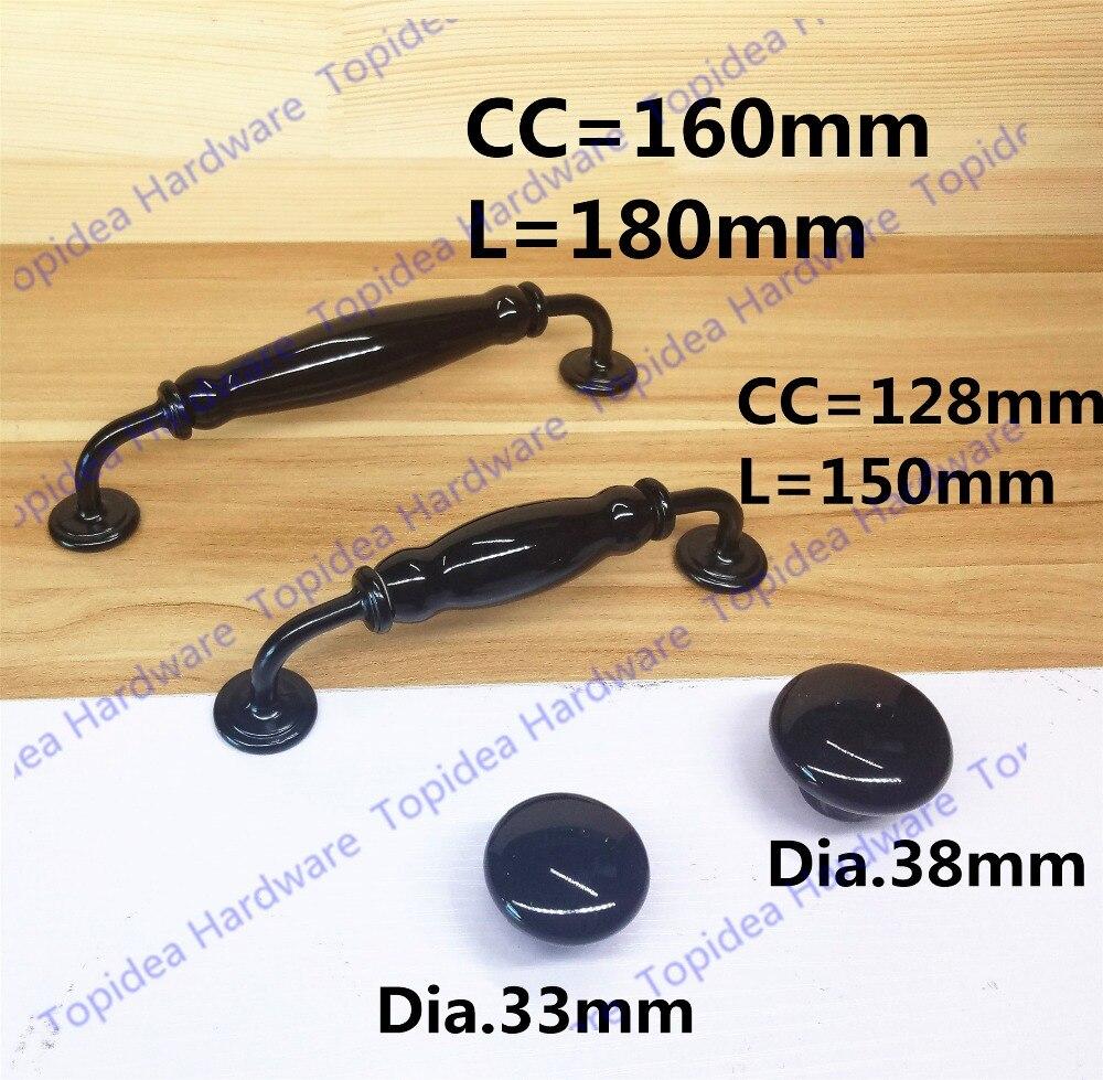 ₪Solo perilla agujero CC 128mm/160mm negro cocina manijas del tirón ...