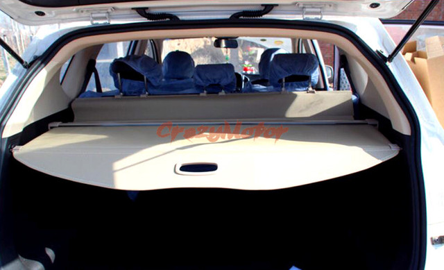 For Ford Everest Suv 4 Door 2015 2016 2017 Beige Color Retractable Cargo Cover Rear Trunk