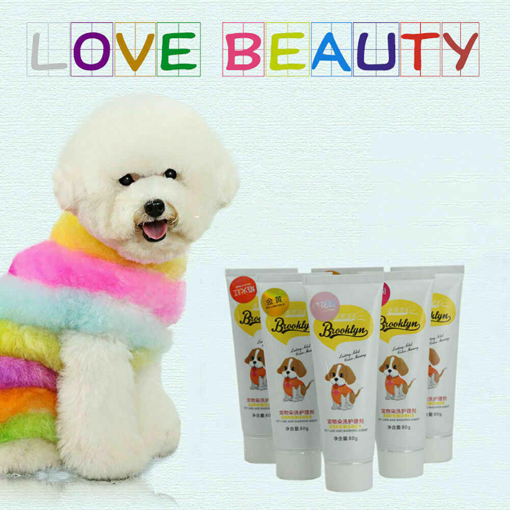 80g Pet Dog Hair Color Dye Coloring Dyeing Harmless Natural Dyeing Agent  Safe