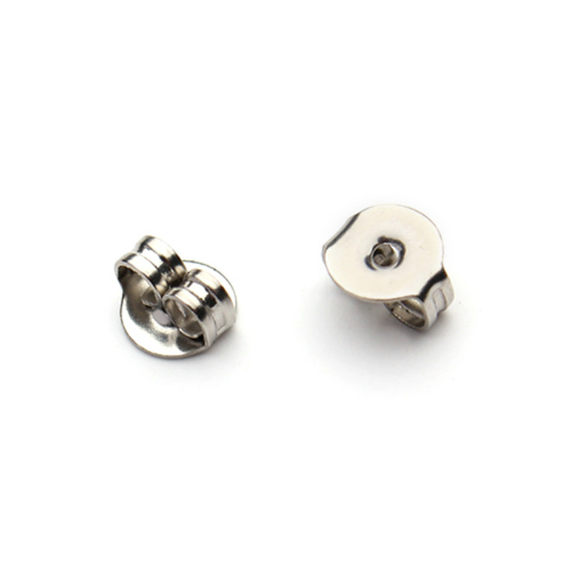 High Quality 100pcs Lot Stainless Steel Earrings Jewelry Metal Ear Earring Back Stopper Diy Accessories F2216